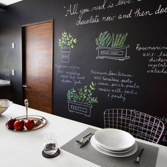 Vernice lavagna idee per usarla con creativit - Vernice per cucina ...